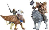 """Набор фигурок """"Warcraft. Battle. Лотар, Грифон, Чернорук, Северный Волк"""" (7 см)"""