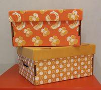 Набор коробок маленьких 2 шт. (оранжевая и желтая)