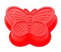 """Форма для выпекания силиконовая """"Бабочка"""" (165х135х35 мм; красная)"""