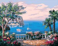 "Картина по номерам ""Вид на морской залив"" (400х500 мм)"