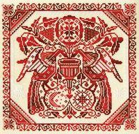 """Вышивка крестом """"Славянский орнамент"""" (265х255 мм)"""