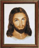 """Вышивка крестом """"Иисус"""" (280х370 мм)"""