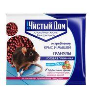 """Приманка для крыс и мышей """"Чистый дом"""" в гранулах с запахом ореха (100 г)"""