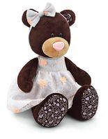 """Мягкая игрушка """"Медведь Milk в платье с вышивкой"""" (25 см)"""