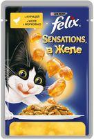 """Пресервы для кошек """"Sensations"""" (85 г; курица в желе с морковью)"""