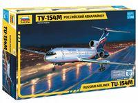 Пассажирский самолет ТУ-154М (масштаб: 1/144)