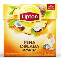 """Чай черный """"Lipton. Pina Colada"""" (20 пакетиков)"""