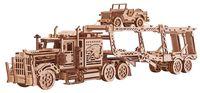 """Сборная деревянная модель """"Тягач Биг Риг. Автовоз"""""""