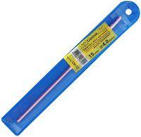 Крючок для вязания (розовый; металл; 4.0 мм)