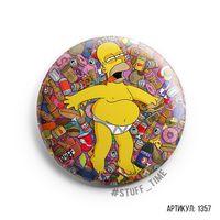 "Значок большой ""Симпсоны. Гомер"" (арт. 1357)"