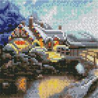 "Алмазная вышивка-мозаика ""Зимний пейзаж"" (200х200 мм)"
