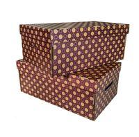 """Набор коробок """"Kardeco"""" (2 шт.; фиолетовые)"""