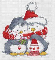 """Вышивка крестом """"Пингвинчики"""""""