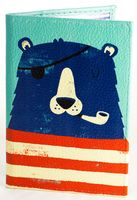 "Обложка на паспорт ""Мишка-капитан"""