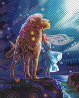 """Алмазная вышивка-мозаика """"Созвездие льва"""" (400х500 мм)"""