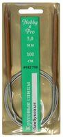 Спицы для вязания круговые (бамбук/металл; 5 мм)