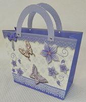 "Пакет бумажный подарочный ""Бабочки"" (35х25х11 см; арт. 10647486)"