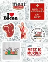 "Набор виниловых наклеек №129 ""Meat"""