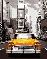 """Картина по номерам """"Ретро такси"""" (500х650 мм)"""