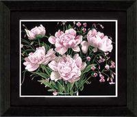 """Вышивка крестом """"Розовые пионы"""" (530х430 мм)"""