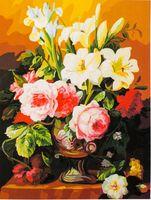 "Картина по номерам ""Лилии и пионы"" (400x500 мм; арт. MG318)"