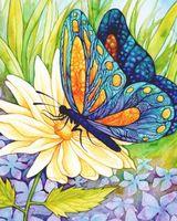 "Алмазная вышивка-мозаика ""Бабочка и цветок"" (300х370 мм)"