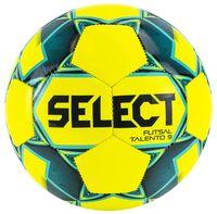 """Мяч футзальный Select 852615 """"Futsal Talento 9"""" №2 (желтый/зеленый/голубой)"""