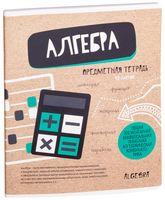"""Тетрадь полуобщая в клетку """"Craft Book. Алгебра"""" (48 листов)"""