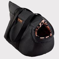 Переноска для животных (43х20х23 см; черная)