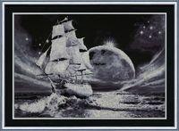 "Вышивка крестом ""Лунный путь"" (379х549 мм)"