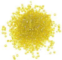 Бисер прозрачный с серебристым центром №30 (желтый; 11/0)