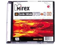 Диск DVD+R Double Sided 9,4Gb 8x Mirex slim