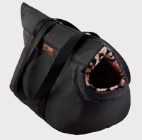 Переноска для животных (55х28х25 см; черная)