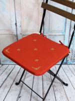 "Подушка на стул ""Незабудка"" (38х38 см; оранжевая)"