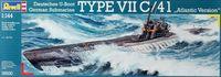 """Сборная модель """"Подводная лодка Type VII C/41 Атлантическая версия"""" (масштаб: 1/144)"""