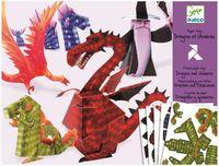 """Оригами простое """"Драконы и химеры"""""""