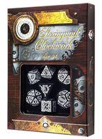 """Набор кубиков """"Стимпанк. Clockwork"""" (7 шт.; черно-белый)"""