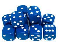 """Набор кубиков D6 """"Опак"""" (12 мм; 12 шт.; голубой)"""