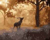 "Картина по номерам ""Олень в лесу"" (400х500 мм)"