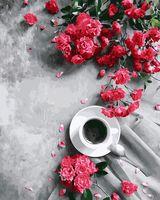 "Картина по номерам ""Кофе и цветы"" (400х500 мм)"