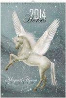 """Календарь настенный на 2014 год """"Фэнтези. Волшебные лошади"""""""