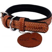 """Ошейник из натуральной кожи """"Collar Soft"""" (30-39 см; коричневый верх)"""
