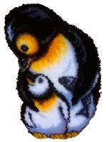 """Вышивка в ковровой технике """"Коврик. Пингвины"""" (430х650 мм)"""