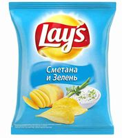 """Чипсы картофельные """"Lay's. Сметана и зелень"""" (80 г)"""