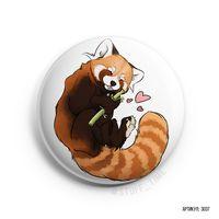 """Значок маленький """"Красная панда"""" (арт. 037)"""