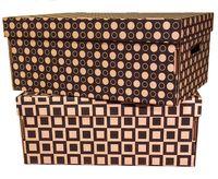 "Набор коробок ""Kardeco"" (2 шт.; черные; арт. GFK001m)"