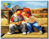 "Картина по номерам ""Детский поцелуй"" (400x500 мм; арт. HB4050230)"