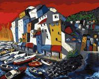 """Картина по номерам """"Мигель Фрейтас. Венецианская пристань"""" (400х500 мм)"""