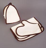 """Набор для сауны """"Нежность"""" (3 предмета; коричневый)"""