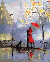 """Картина по номерам """"Французкий поцелуй"""" (400х500 мм)"""